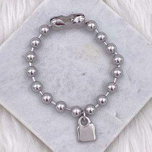 Stainless steel bracelet with Decorative Padlock